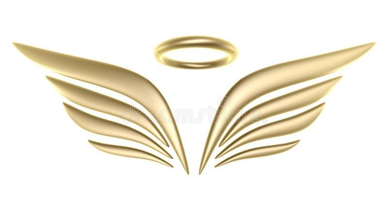 símbolo da asa do pássaro 3d ilustração royalty free