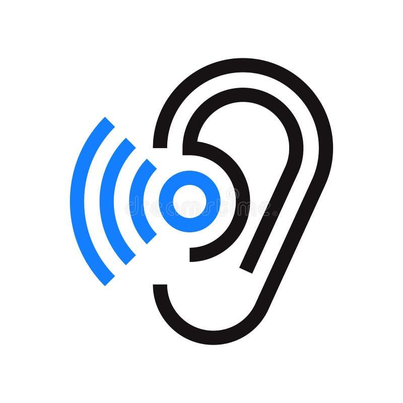 Símbolo da audição ilustração do vetor