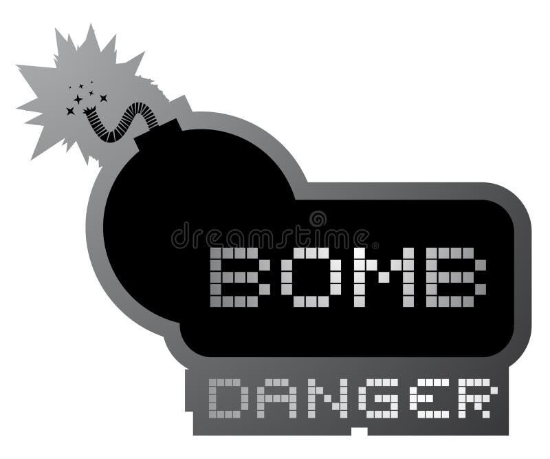 Símbolo da bomba do perigo ilustração do vetor