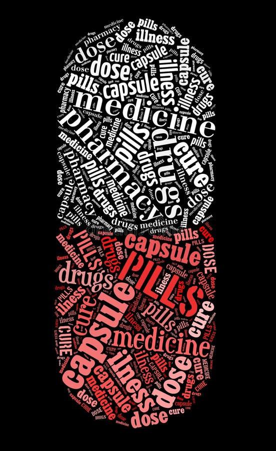 Símbolo da cápsula do comprimido ilustração do vetor
