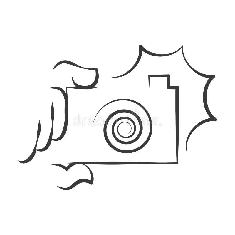 Símbolo da câmera ilustração do vetor