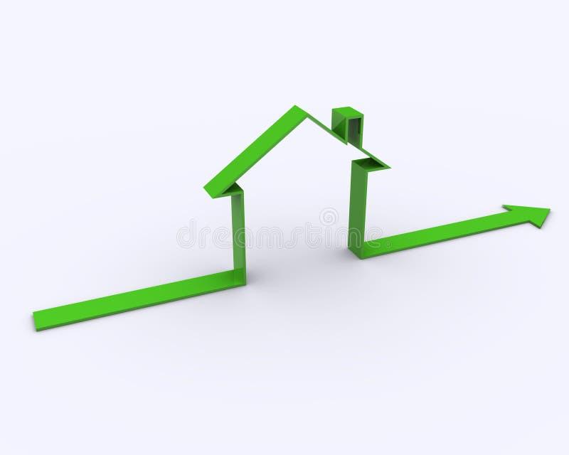 Símbolo da casa ilustração stock