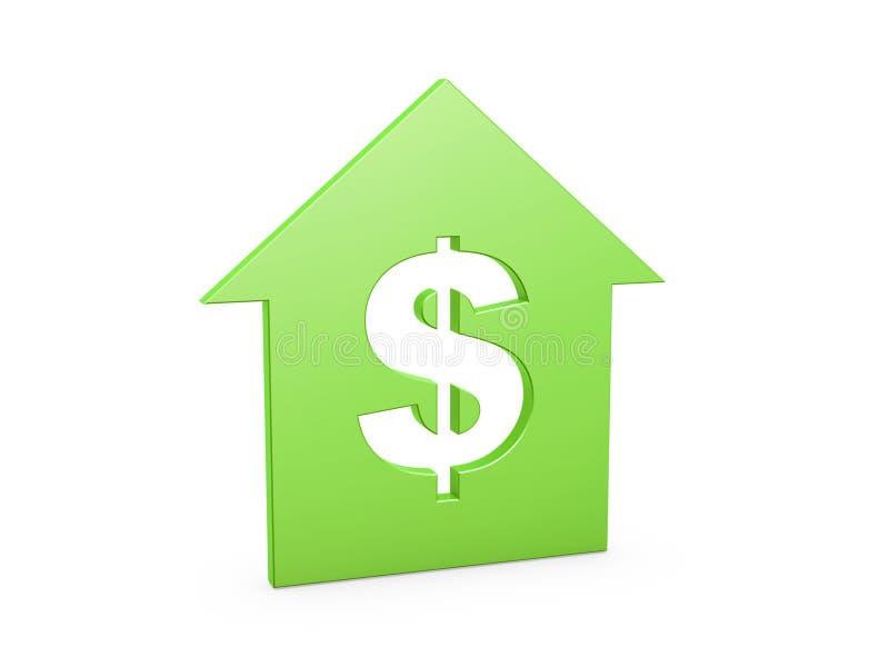 Símbolo da casa do dólar ilustração do vetor