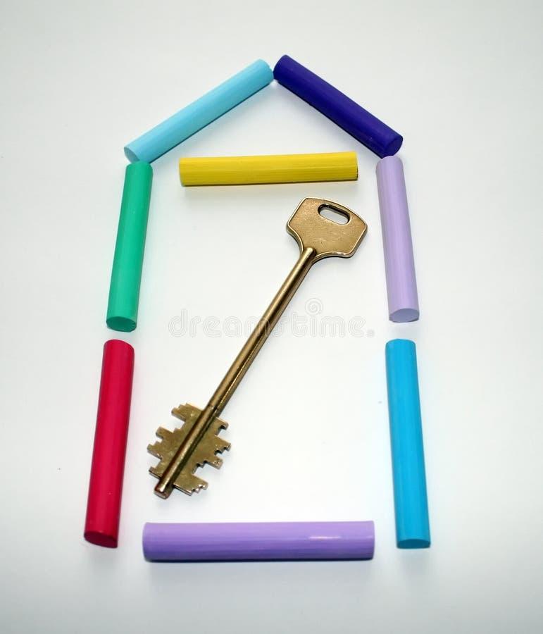Símbolo da casa nova. imagem de stock
