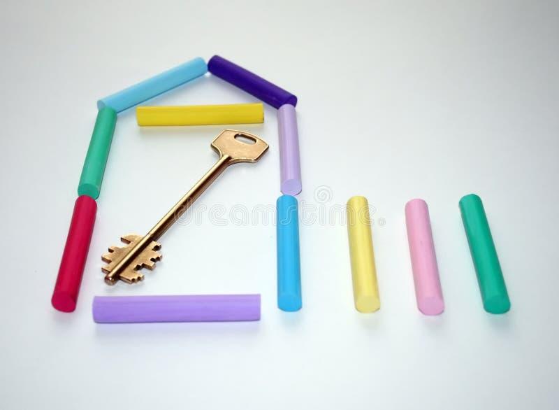 Símbolo da casa nova. fotografia de stock