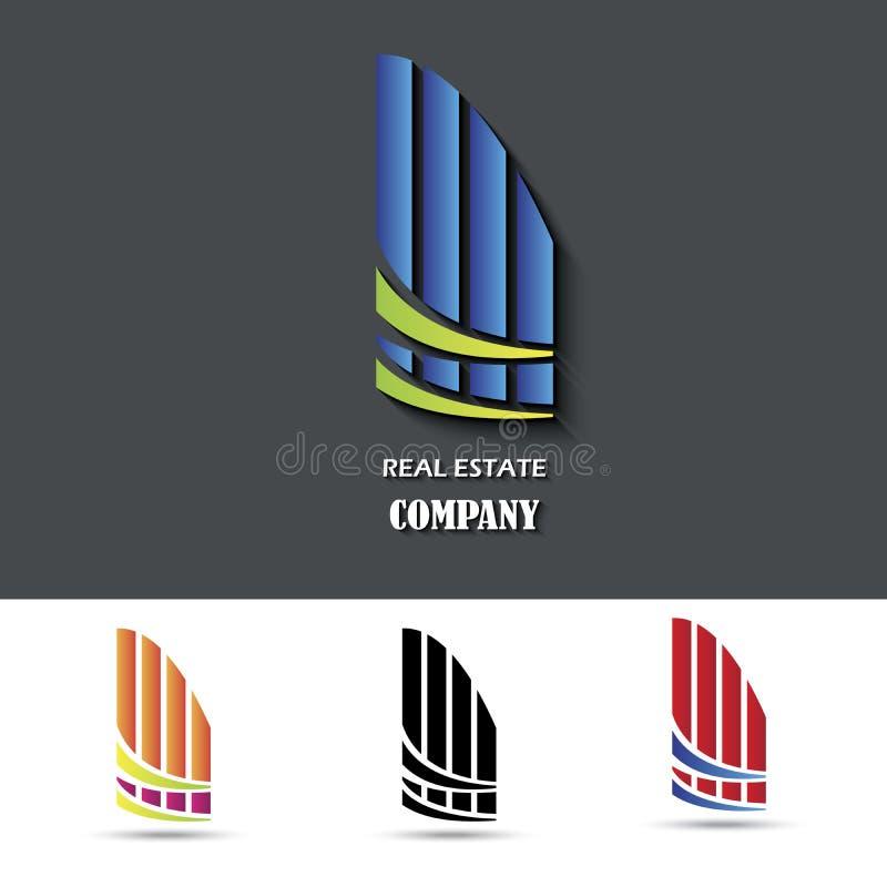 Símbolo da casa Projeto creativo ilustração stock