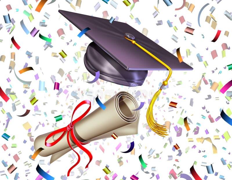 Símbolo da celebração da graduação ilustração do vetor