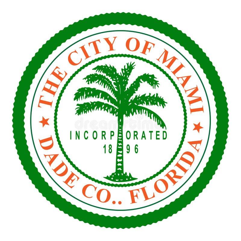 Símbolo da cidade de Miami em Florida ilustração royalty free