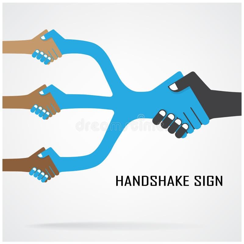 Símbolo da cooperação, sinal da parceria ilustração royalty free