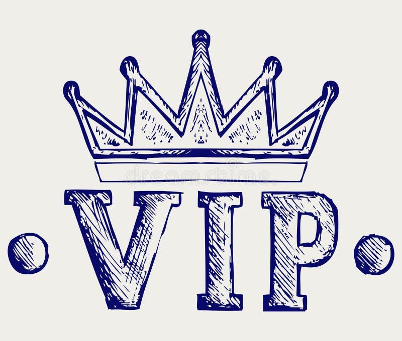 Símbolo da coroa do Vip ilustração stock