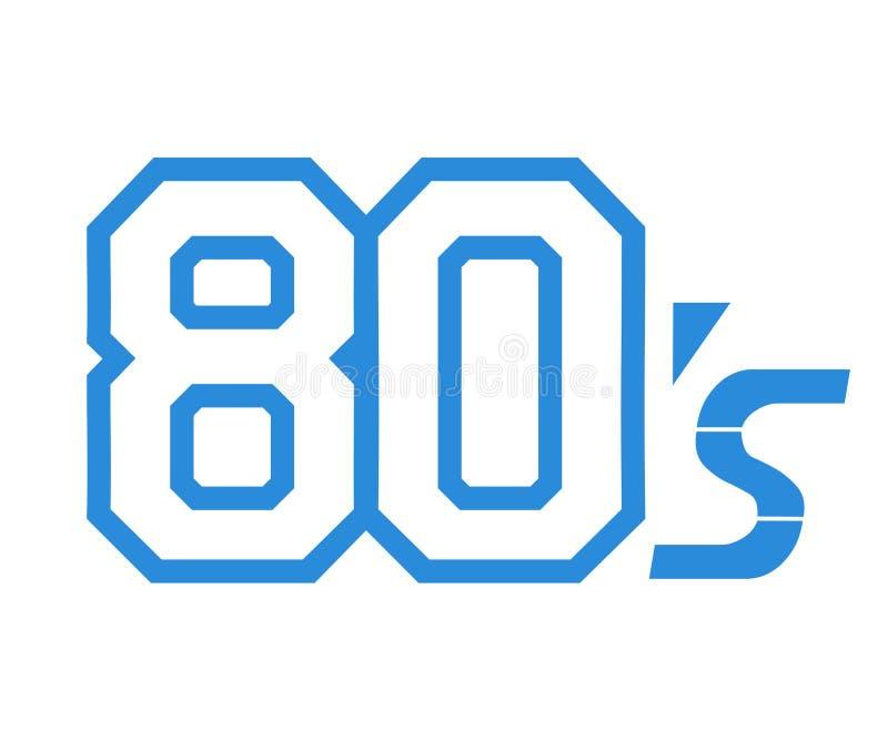 símbolo da década 80s ilustração royalty free