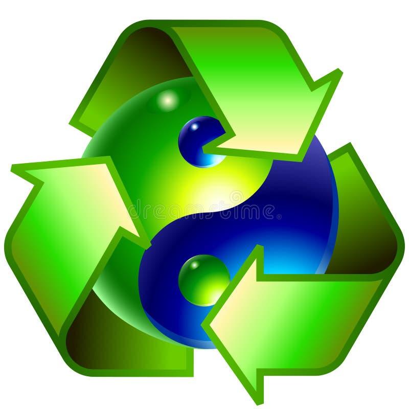 Símbolo da ecologia ilustração royalty free