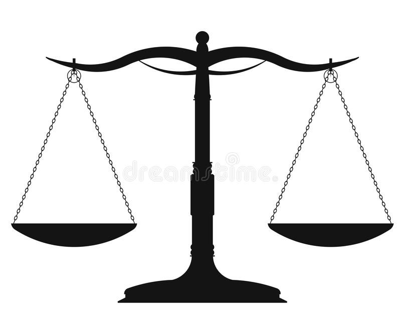 Símbolo da escala - vetor ilustração stock