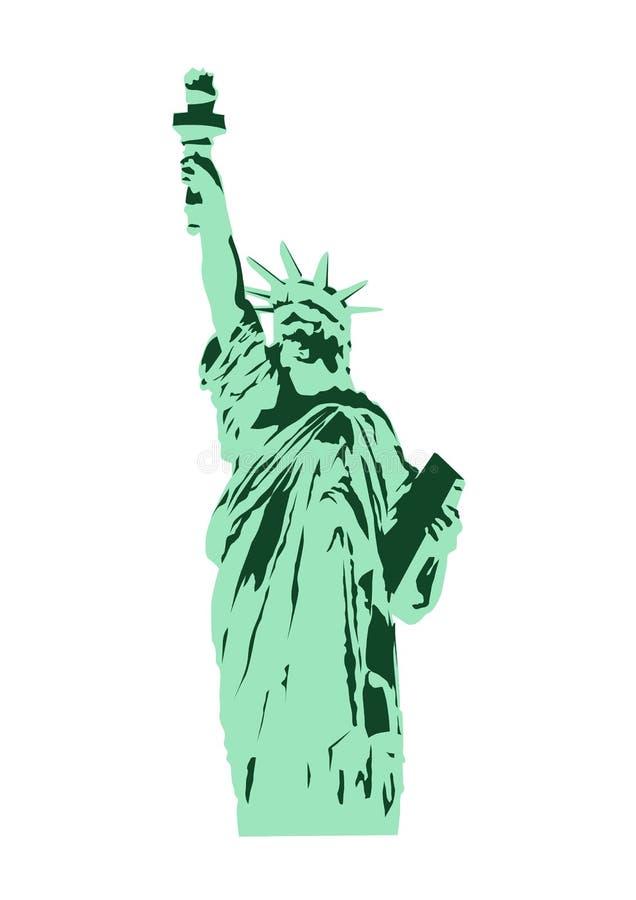 Símbolo da estátua da liberdade, marco de New York, vetor ilustração stock