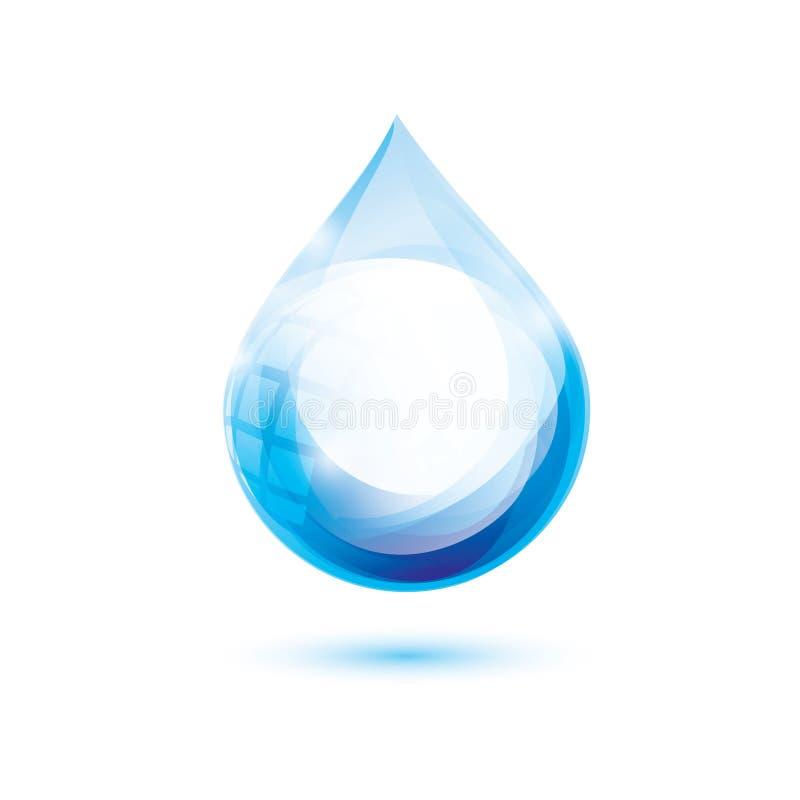 Símbolo da gota da água ilustração stock