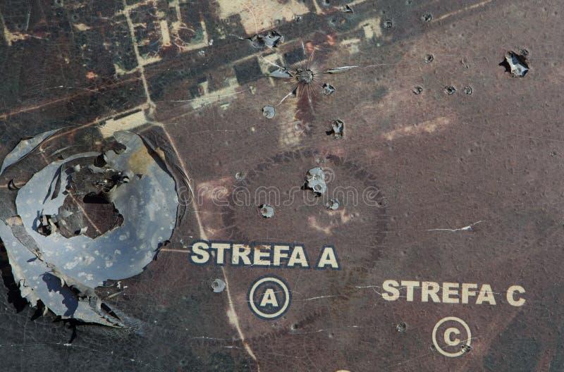 Símbolo da guerra - um mapa staelitary imagem de stock