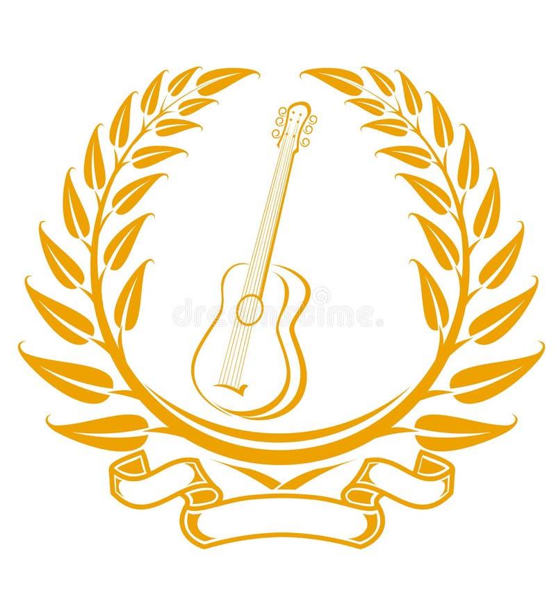 Símbolo Da Guitarra Imagem de Stock Royalty Free