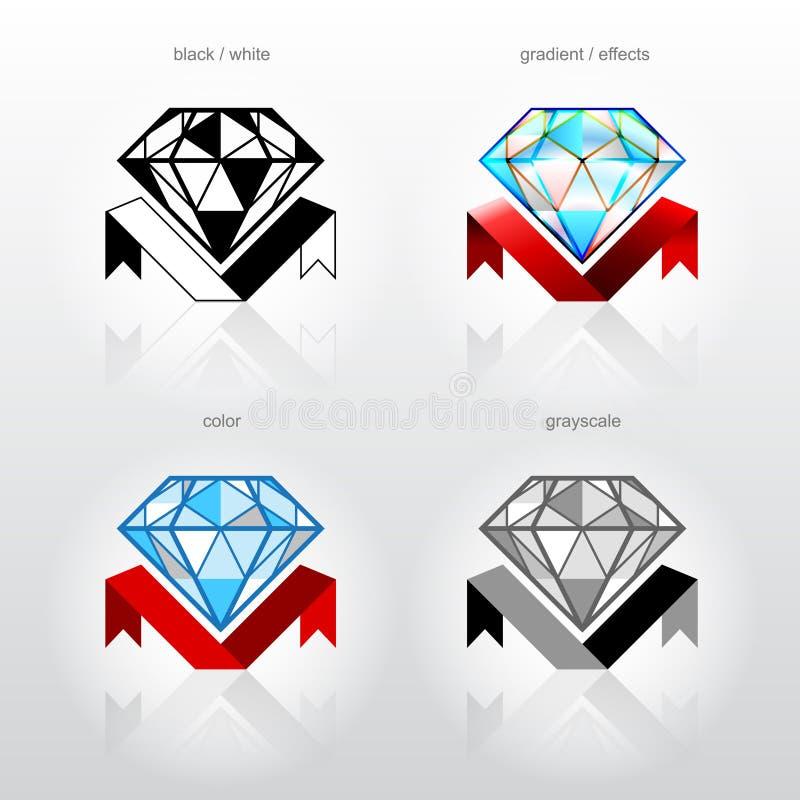 Símbolo da identidade para companhias da indústria da jóia ilustração stock