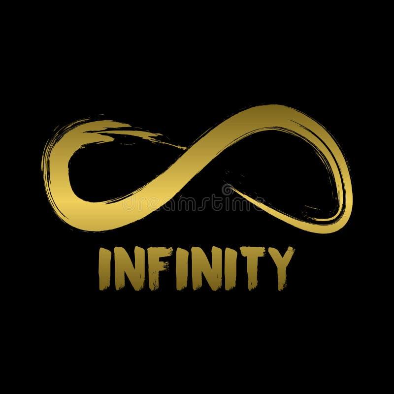 Símbolo da infinidade Logo Concept tirado mão ilustração do vetor