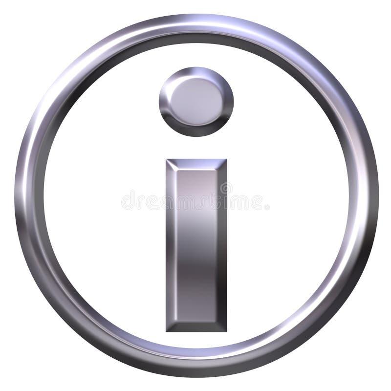 Símbolo da informação ilustração do vetor