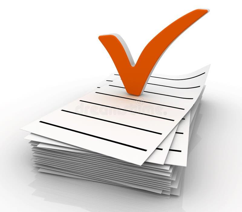 Símbolo da lista de verificação ilustração do vetor