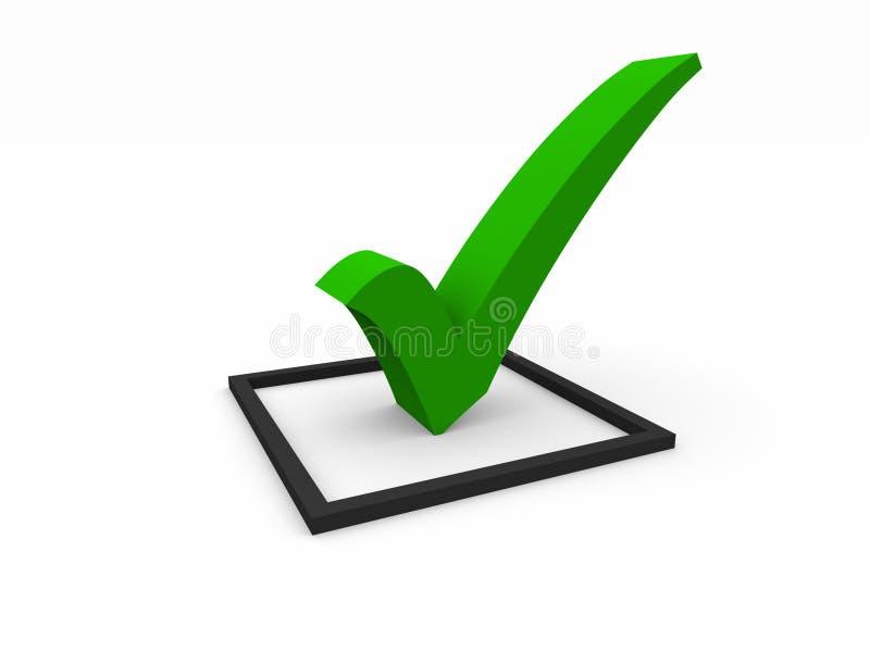 Símbolo da lista de verificação ilustração royalty free