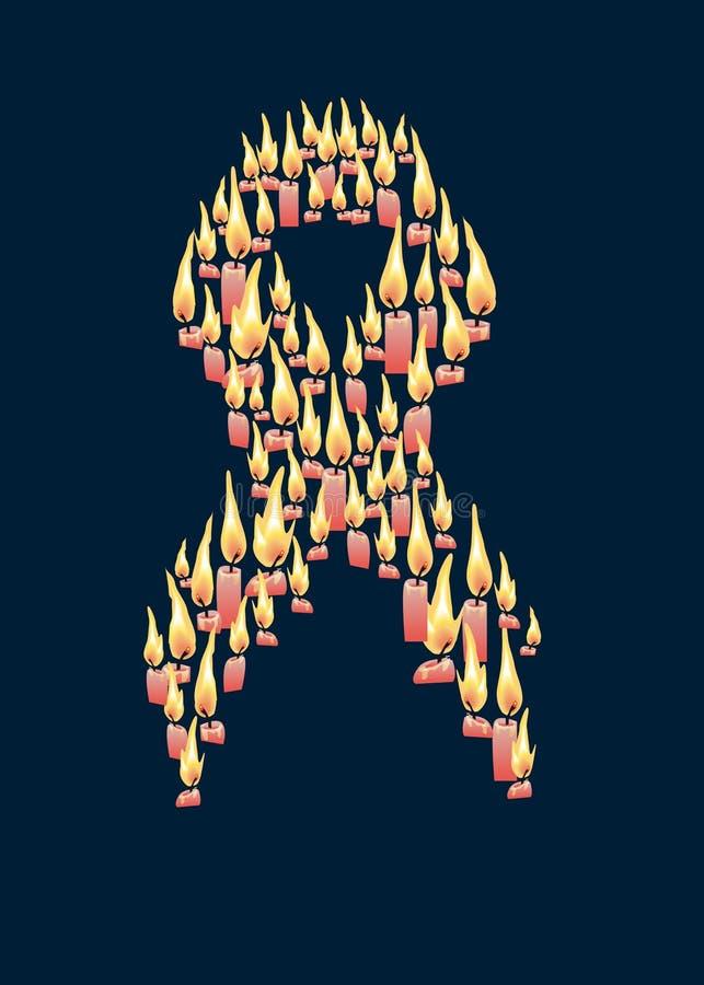 Símbolo da luta de encontro a um cancro e a um AIDS ilustração royalty free