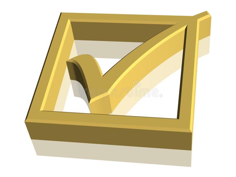 símbolo da marca de verificação 3D ilustração royalty free