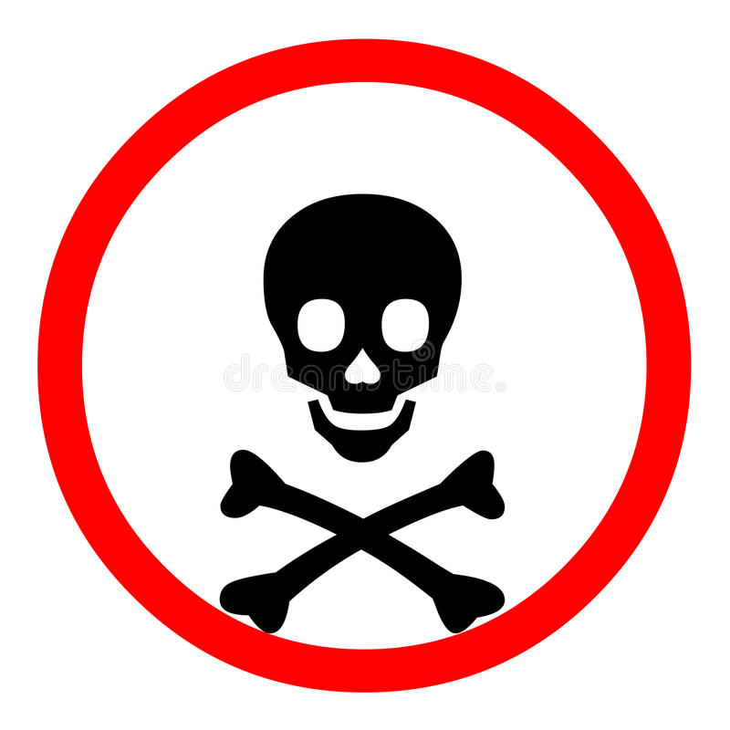 Símbolo da morte ilustração do vetor