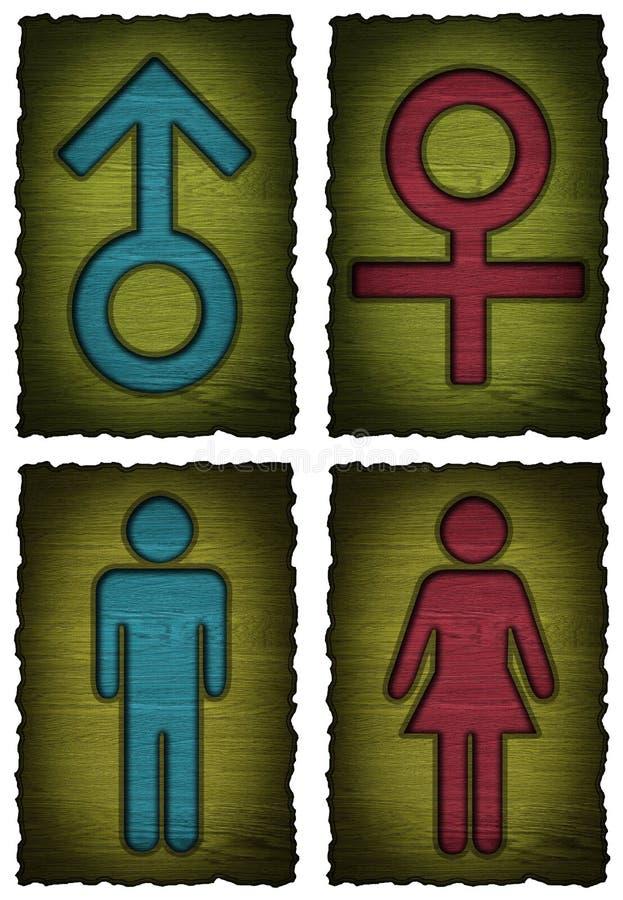 Símbolo da mulher do homem isolado ilustração royalty free