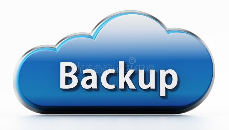 Símbolo da nuvem com texto alternativo ilustração 3D ilustração stock