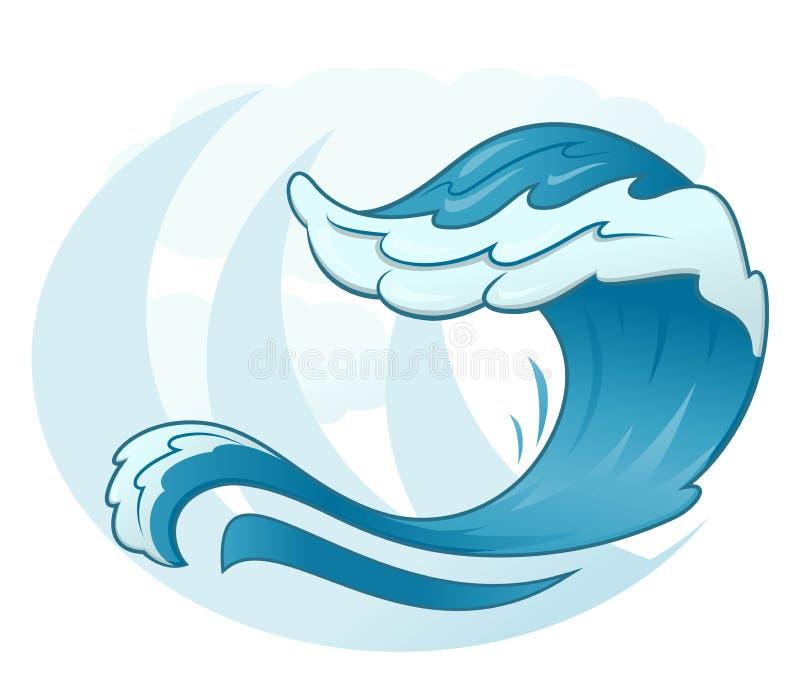 Símbolo da onda do mar ilustração stock
