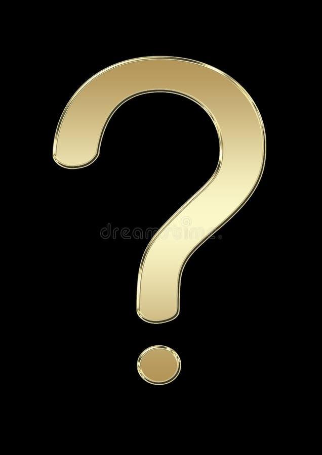 símbolo da pergunta no fundo preto ilustração do vetor