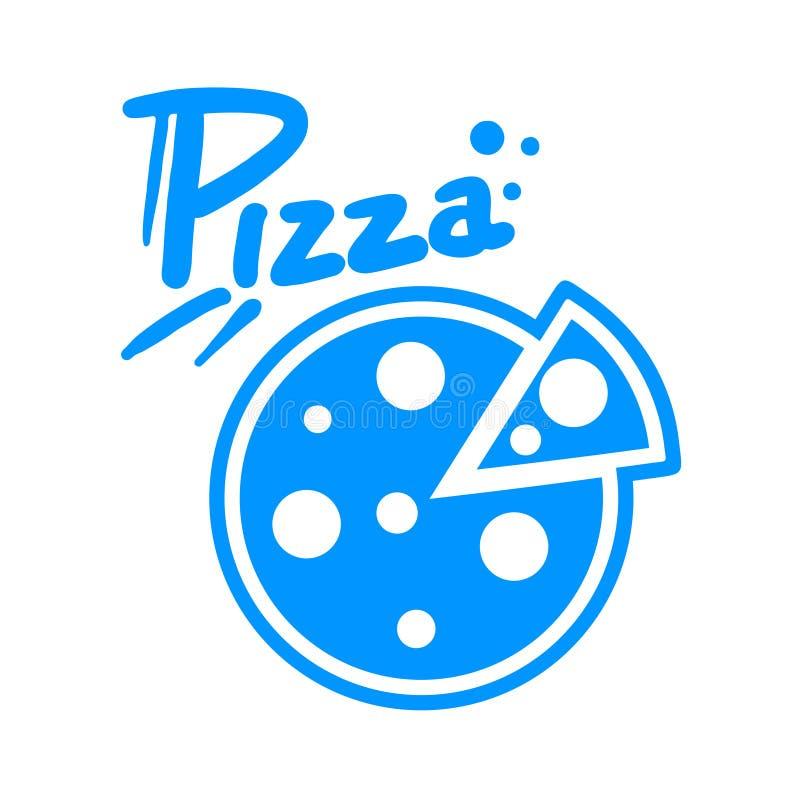Símbolo da pizza ilustração do vetor