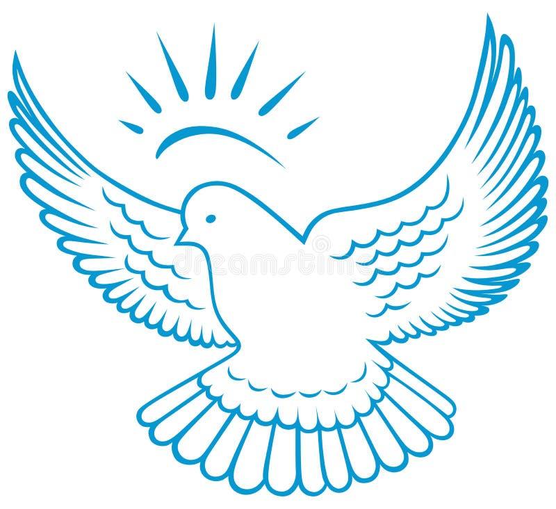 Símbolo da pomba do vetor ilustração stock