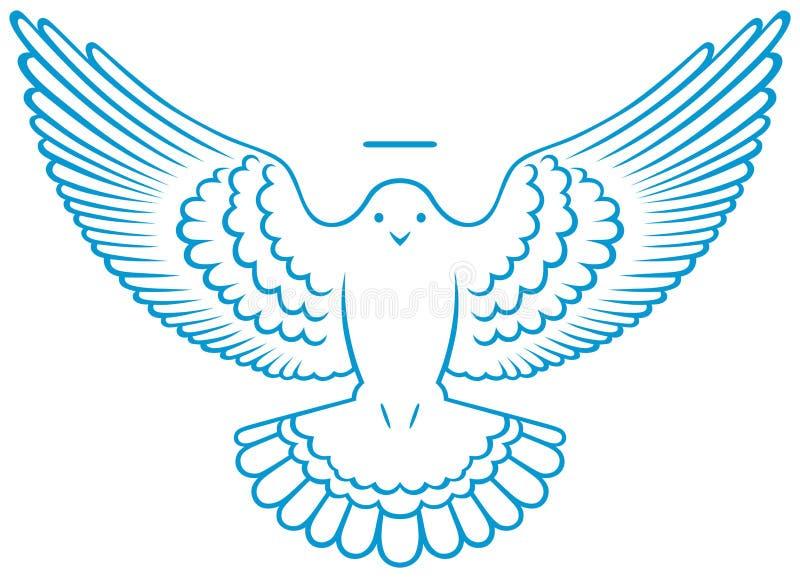 Símbolo da pomba do vetor ilustração royalty free