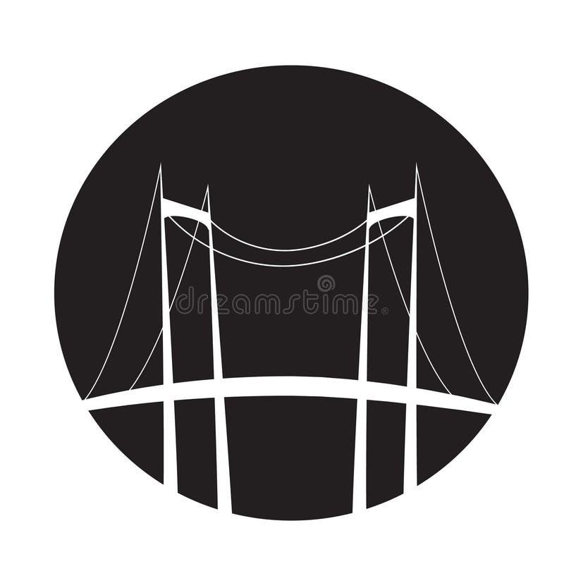 Símbolo da ponte ilustração stock