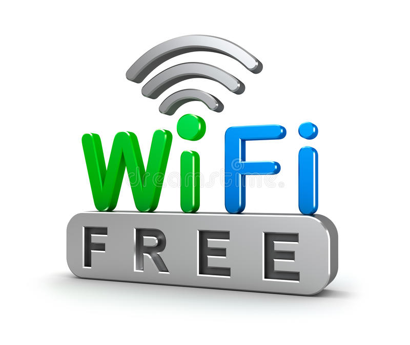 Símbolo da rede wireless ilustração stock