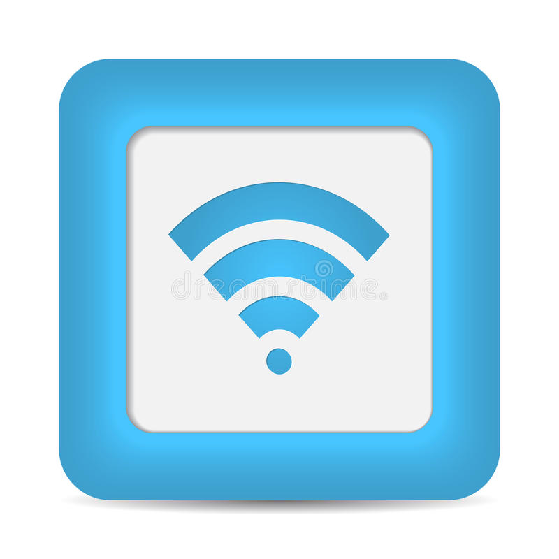Símbolo da rede wireless (Wifi). Vetor ilustração royalty free