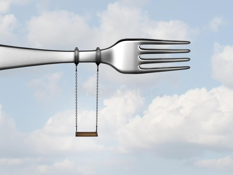Símbolo da refeição das crianças ilustração stock
