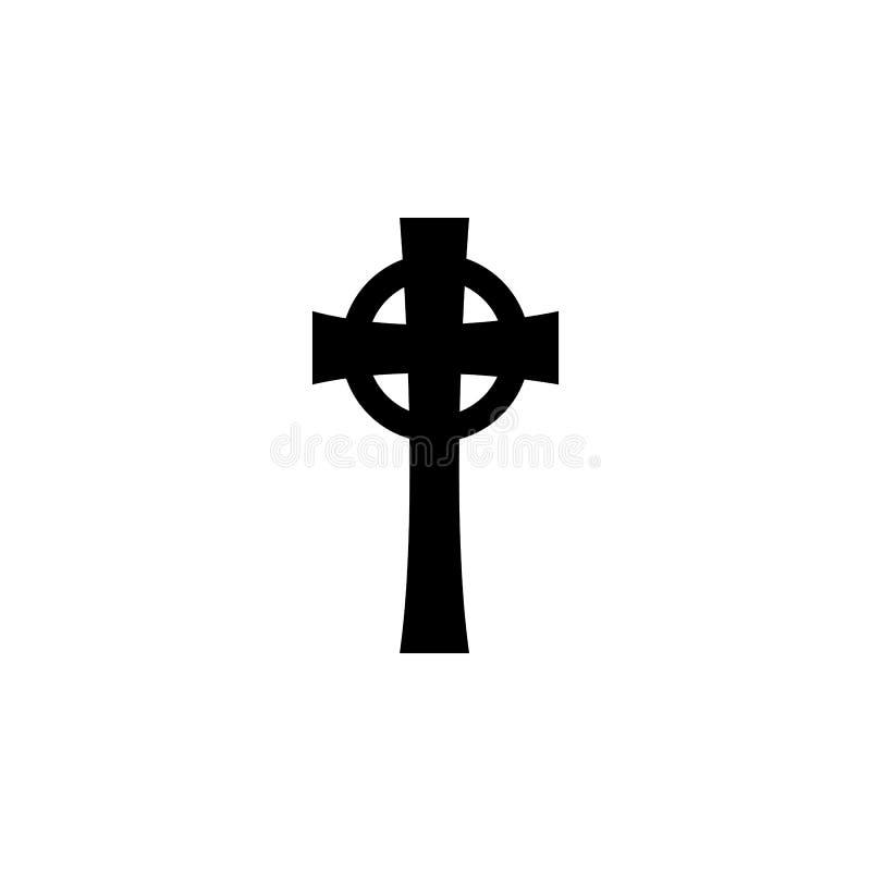 Símbolo da religião, ícone transversal celta Elemento da ilustração do símbolo da religião Os sinais e o ícone dos símbolos podem ilustração royalty free