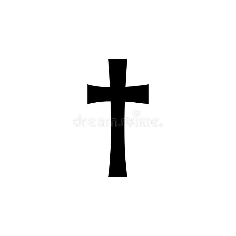 Símbolo da religião, ícone transversal Elemento da ilustração do símbolo da religião Os sinais e o ícone dos símbolos podem ser u ilustração royalty free