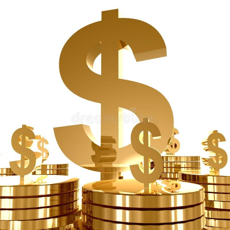 Símbolo da riqueza e do ícone do dinheiro ilustração do vetor