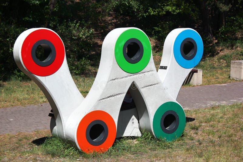 Símbolo da rota verde da bicicleta de Velo imagem de stock royalty free