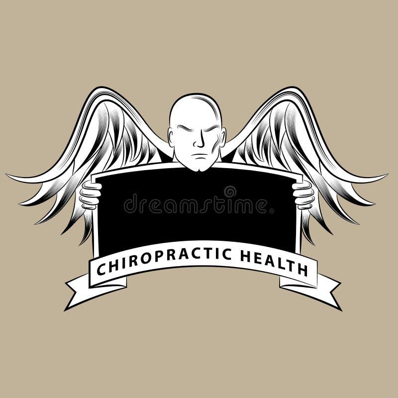 Símbolo da saúde da quiroterapia ilustração stock