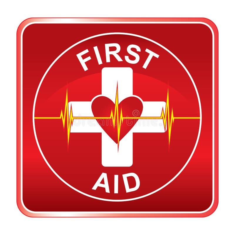 Símbolo da saúde dos primeiros socorros ilustração do vetor