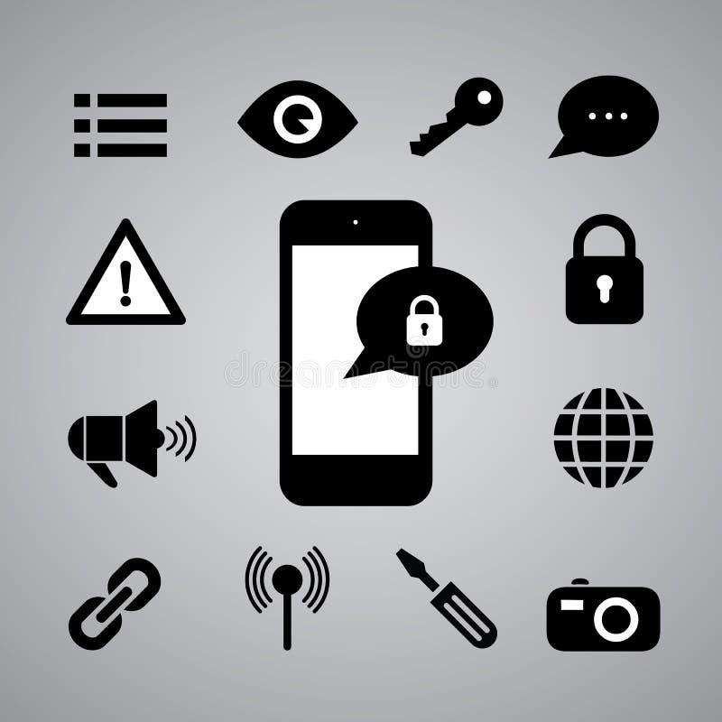 Símbolo da segurança ilustração do vetor