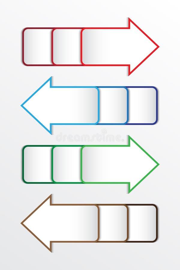 Símbolo da seta do vetor no branco ilustração stock