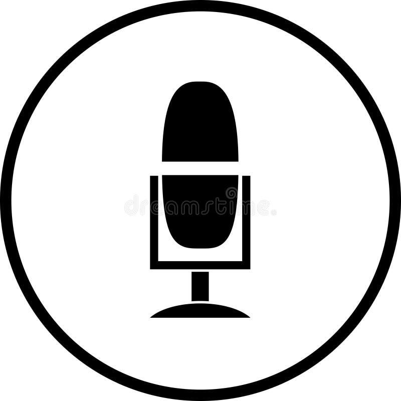 Símbolo da transmissão do microfone ilustração stock