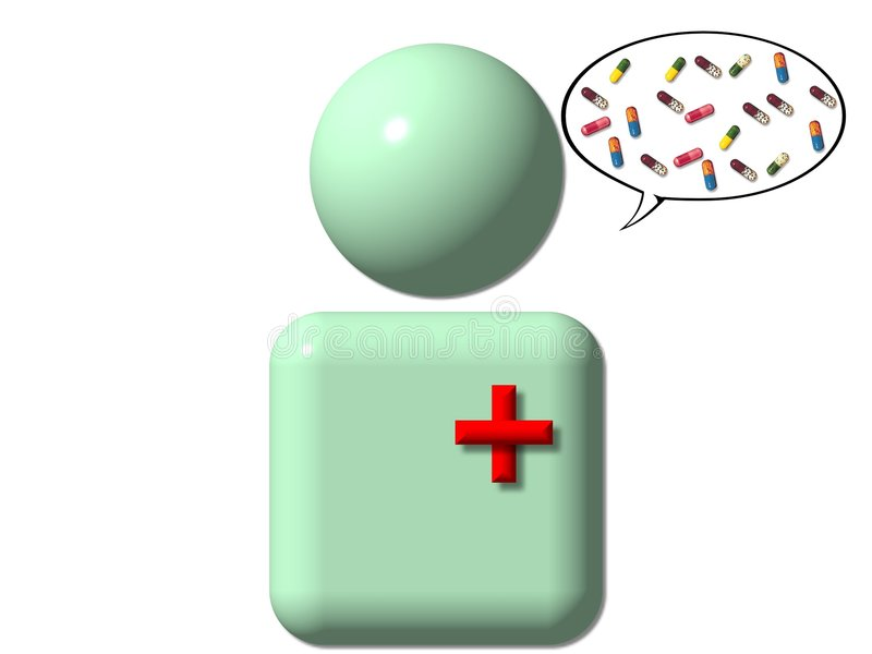 Símbolo das informações médicas ilustração do vetor
